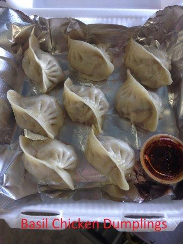 Basil Chicken Dumplings